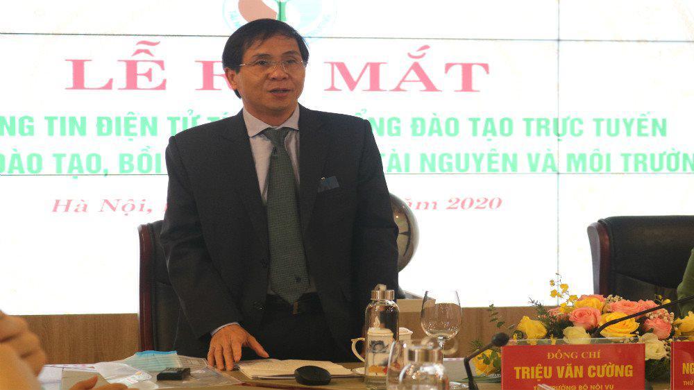Thứ trưởng Bộ Nội vụ Triệu Văn Cường phát biểu tại lễ ra mắt.jpg